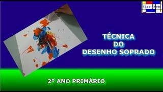 Técnica do desenho soprado - Atividades de artes, Artes Visuais, Aula de artes, Exemplos de Artes