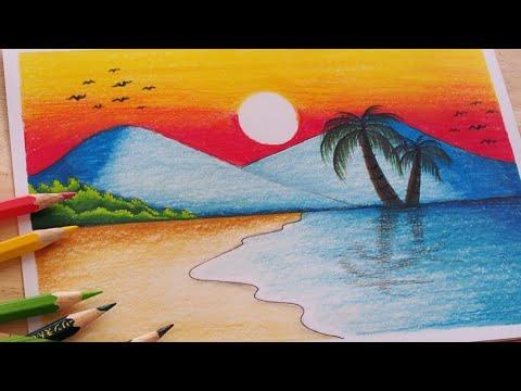 р╕зр╕▓р╕Фр╕гр╕╣р╕Ыр╕Шр╕гр╕гр╕бр╕Кр╕▓р╕Хр╕┤ р╕гр╕░р╕Ър╕▓р╕вр╕кр╕╡р╕Чр╕░р╣Ар╕ер╕кр╕зр╕вр╣Ж р╕кр╕╡р╣Др╕бр╣Й   How to draw Sea with Color Pencil / Drawing Landscape