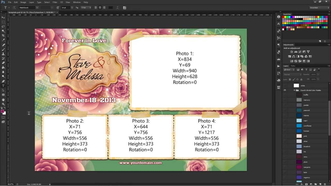Photoshop CS3 Saving Your Photo Booth Template Assets