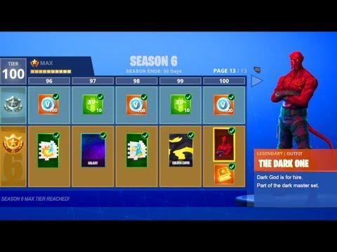 New Season 6 Theme Leaked Fortnite Season 6 Battle Pass Tier 100