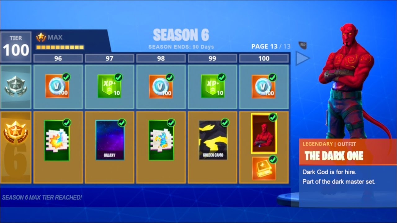 New Season 6 Theme Leaked Fortnite Season 6 Battle Pass Tier 100