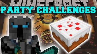 Minecraft: PARTY CHALLENGES! (SUPER JUMPING, BOAT RACE, & VOLCANO PARKOUR!) Mini-Game.