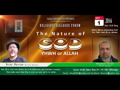 Who is God? YWHW or ALLAH