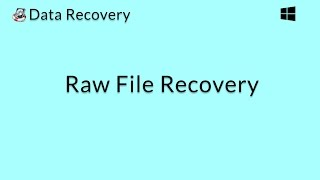 Data Recovery (Windows): Recover the Raw Data of Lost Files on a Windows Computer