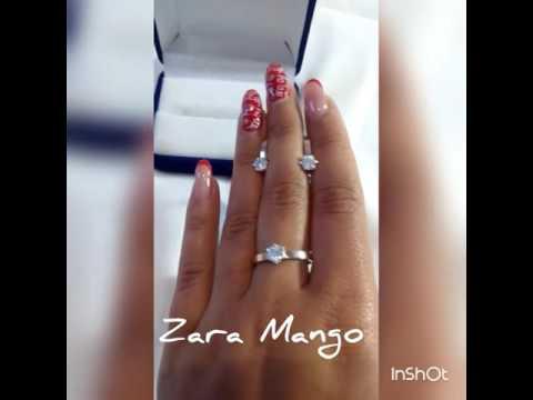Серьги кольцо золото комплекты серебро Zara Mango