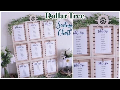 DOLLAR TREE Wedding Seating Chart DIY | Farmhouse Coastal Wedding Decor