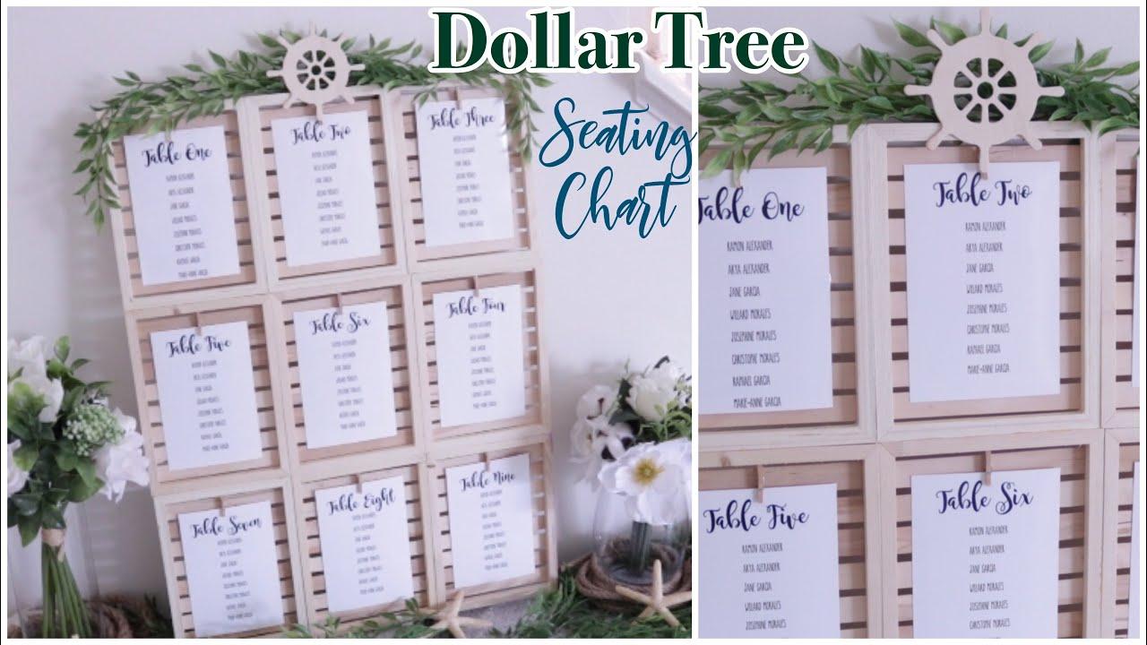 DOLLAR TREE Wedding Seating Chart DIY | Farmhouse Coastal ...
