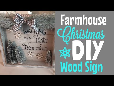 Farmhouse Christmas DIY Wood Sign   Walmart & Dollar Tree Supplies