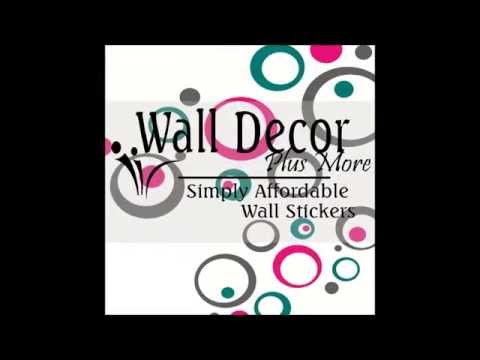 Applying Wall Stickers To A Textured Wall YouTube - How to make vinyl decals stick to textured walls