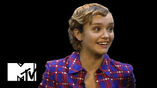 Olivia Cooke Talks Riding Around On Harry Styles' Back | MTV News
