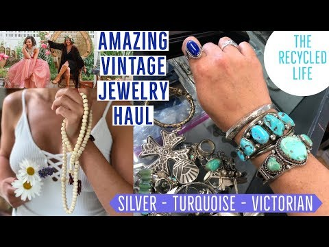 Antique Jewelry Haul | HUGE Thrifted Vintage | Turquoise Silver Victorian | The Recycled Life