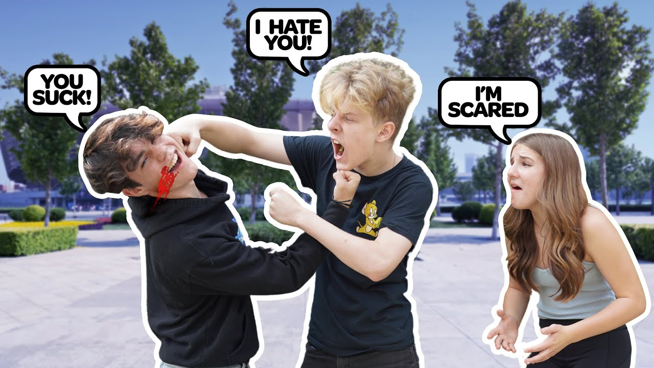 ARGUING IN FRONT OF My GIRLFRIEND To See HOW SHE REACTS PRANK **Bad Idea**👊😱| Lev Cameron