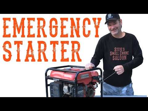 How To Start An Engine Without A Starter - Video