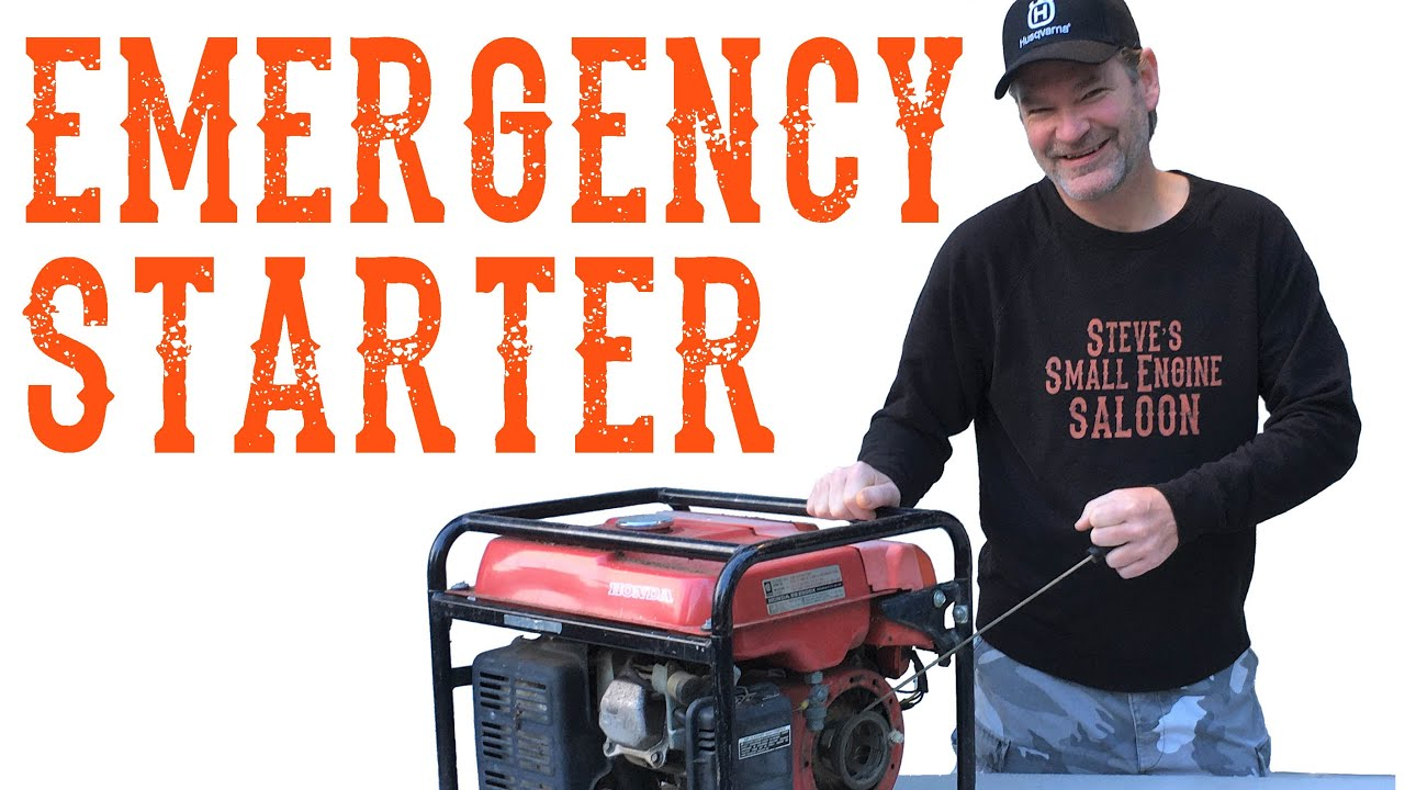 How to Start a Generator Without a Pull Cord