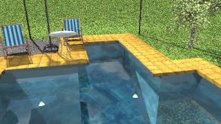 Создание видео в Sweet Home 3D - бассейн