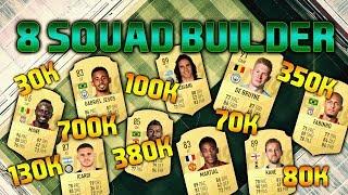 FIFA 19 8 SQUAD BUILDER 30K 70K 80K 100K 130K 350K 380K 700K SQUAD BUILDER - FUT CHAMPIONS TEAMS