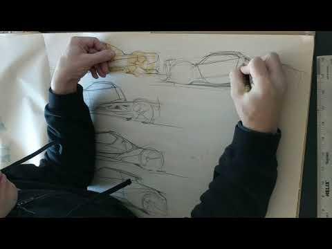 Car Design SPEED SKETCHING - concept electric car