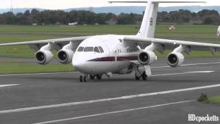 must see bae 146 raf ze700 very close landing taxi and takeoff gloucestershire airport