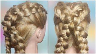Как сделать Необычное плетение кос в сад и в школу ВИДЕО 77
