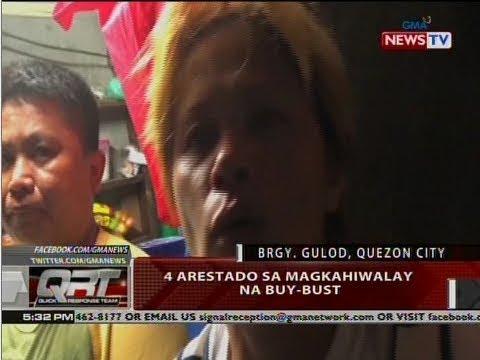QRT: 4 arestado sa magkahiwalay na buy-bust