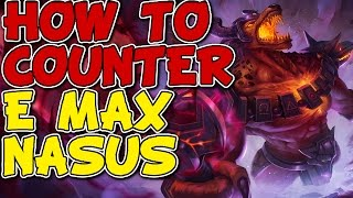 HOW TO COUNTER NEW E MAX NASUS! RENEKTON VS NASUS! LEAGUE OF LEGENDS GAMEPLAY