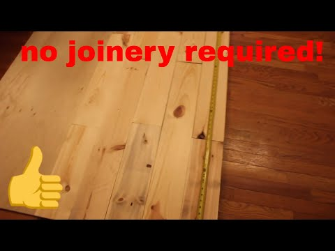 Amazing - no joinery required 6 foot wooden desk PART 1