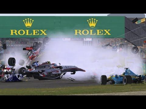 Automobilista Formula 1 Crashes #26 NO MUSIC (1080p60 HD)