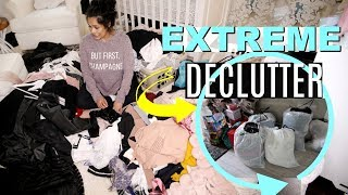 EXTREME Konmari Method Decluttering! Declutter My Makeup, Clothes & More! - MissLizHeart