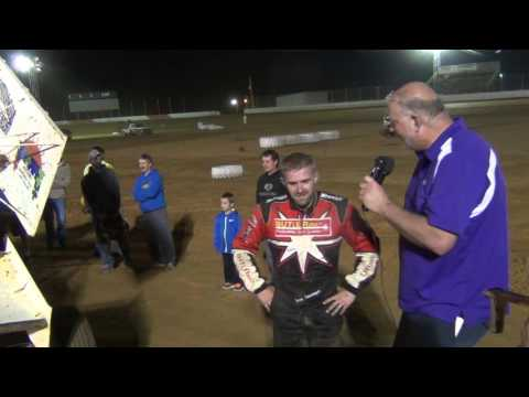 Trail-Way Speedway 358 Sprint Car Victory Lane 4-22-16