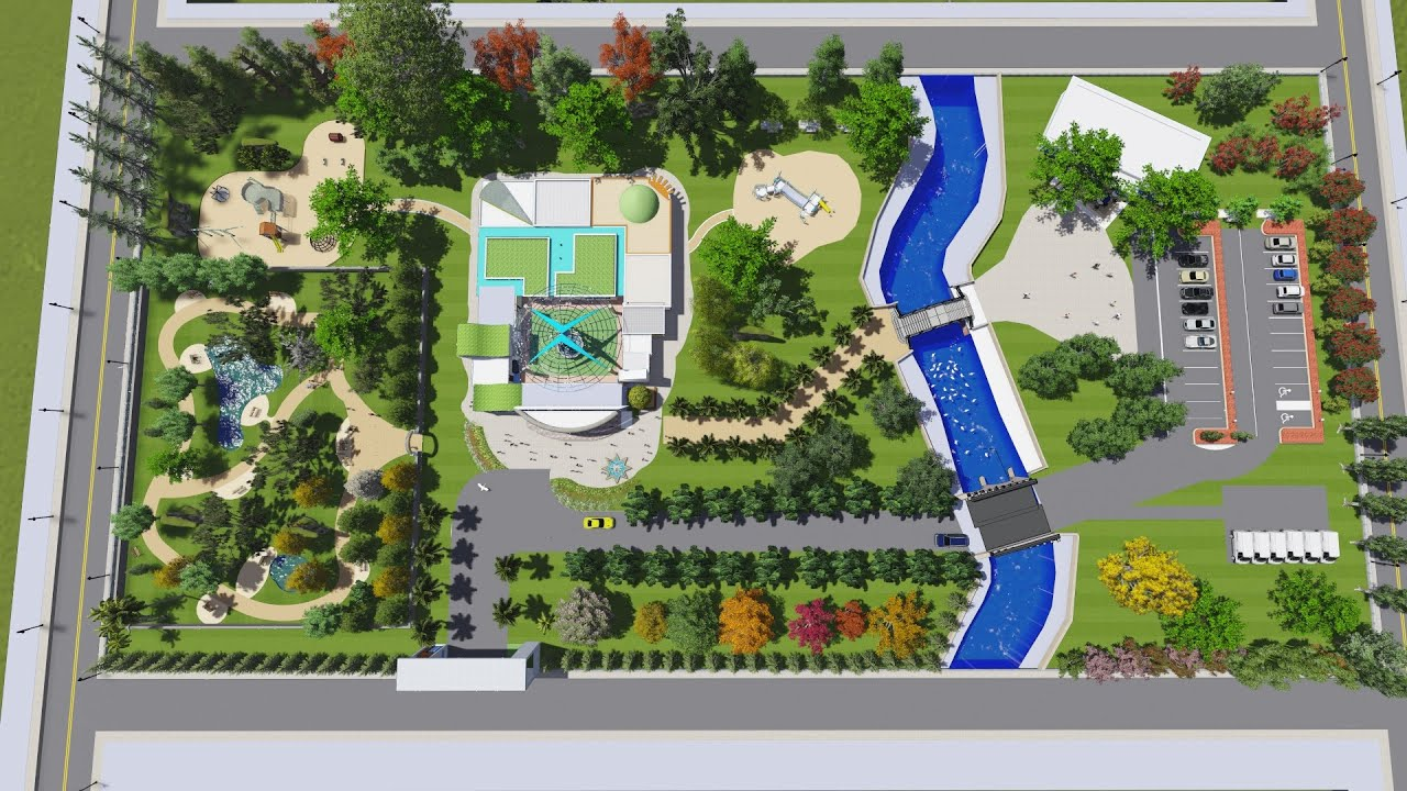 Nursery School Park Design Sketchup Lumion Video Rendering