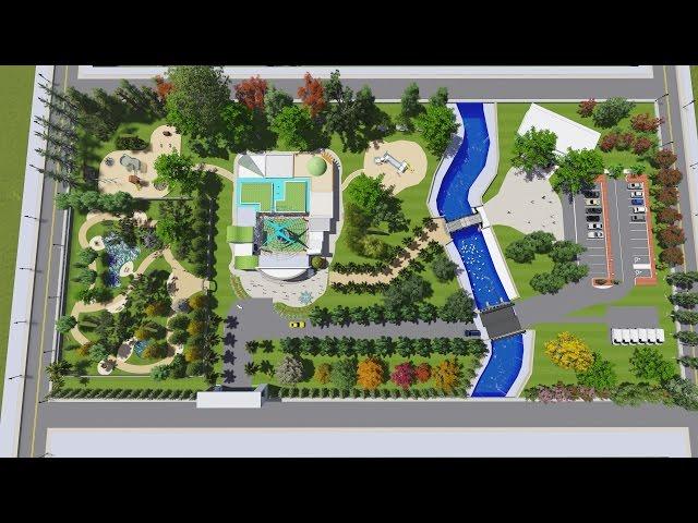 Landscape design nursery school park design sketchup for Garden design in 3ds max