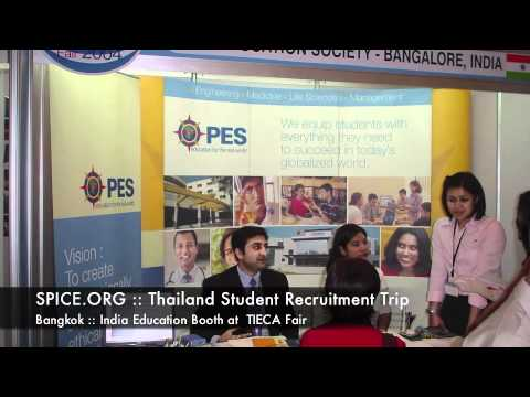 SPICE.ORG :: Thailand Student Recruitment Trip :: Bangkok :: India Education Booth at  TIECA Fair