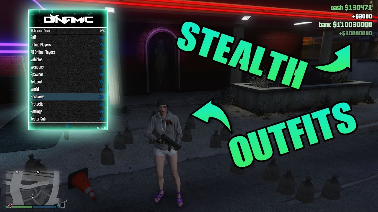 GTA 5 ONLINE DYNAMIC MOD MENU 1 46 UNDETECTED][MODDED  OUTFITS][REMOTE]PC+DOWNLOAD