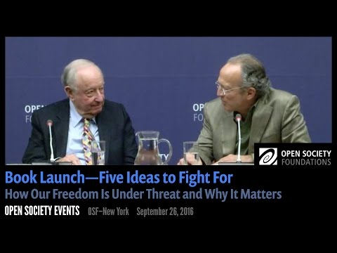 Book Launch—Five Ideas to Fight For: How Our Freedom Is Under Threat and Why It Matters