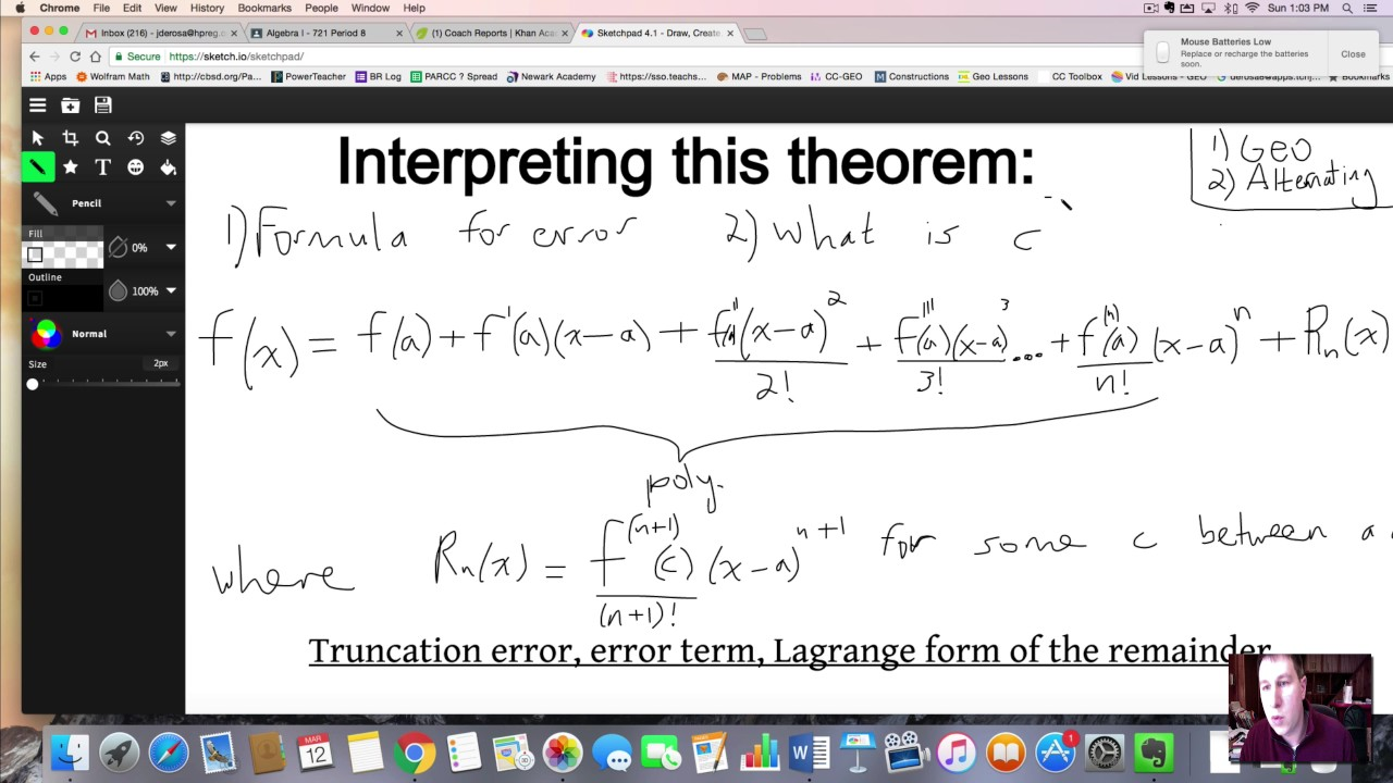 Lagrange Remainder and Taylor's Theorem
