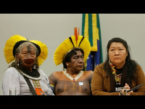 'We fight for our right to exist,' indigenous leaders tell Brazil congress