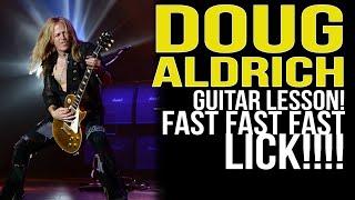 Doug aldrich | fast and furious guitar lick [guitar lesson]