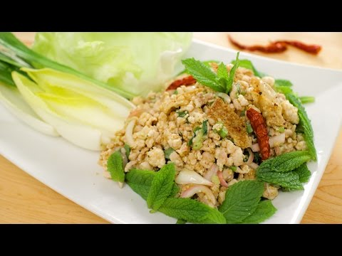 Laab Gai – Spicy Chicken Salad Recipe – Hot Thai Kitchen!