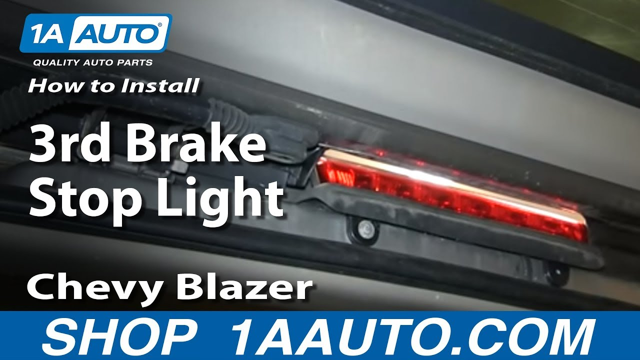 How To Install Replace 3rd Brake Stop Light 2000-06 Chevy ...