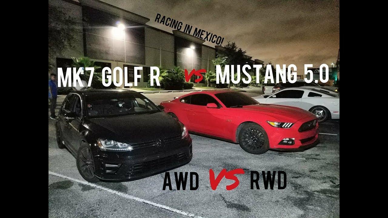 Mk7 Golf R Vs Mustang 5 0 Vs Dodge Challenger Srt 392