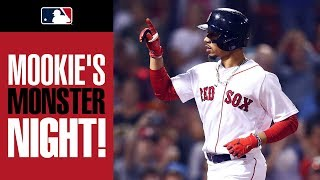 Red Sox Mookie Betts' 4-hit, 2-homer, 5-RBI game at Fenway