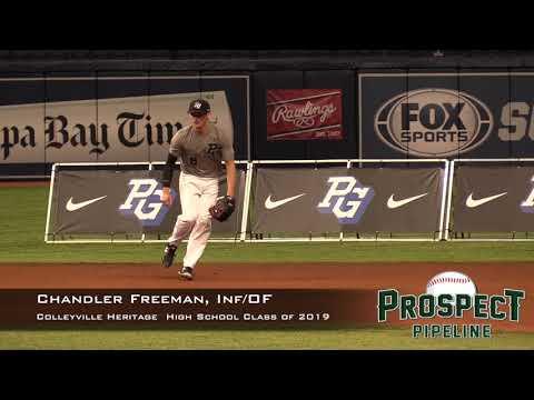 Chandler Freeman Prospect Video, Inf OF, Colleyville Heritage High School Class of 2019