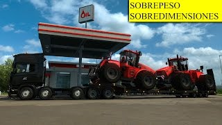 Promods Suecia | Scania Ilegal 10x8 Cargando dos tractores agrícolas Gigantes