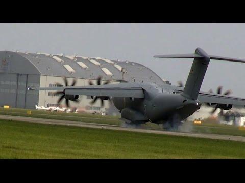 Airbus A400M Flyby & Landing German Air Force