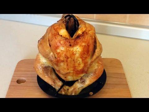 цыпленок гриль запеченный в духовке на подставке