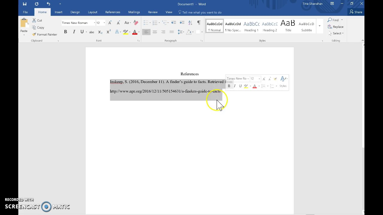 Hanging Indent In Word 2013