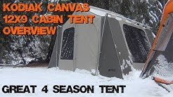 Kodiak Canvas 12x9 Cabin Tent Overview - Awesome 4 Season Tent
