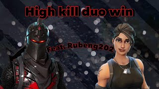 MY BEST DUO GAME! Fortnite Battle Royal Gameplay - (feat- Rubeng202)