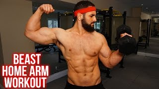 Home Bicep/ Tricep Workout Routine –Dumbbell ONLY Arm Workout (Get BIGGER Arms At Home!!)