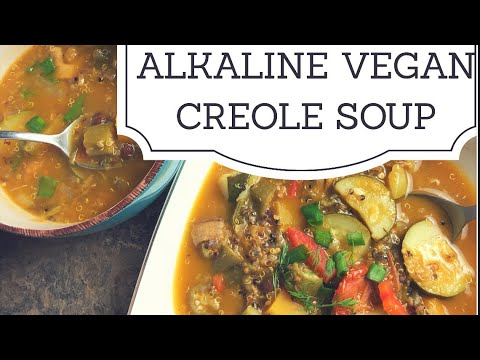 Alkaline Electric Vegan Creole Soup with Dr Sebi Approved Ingredients